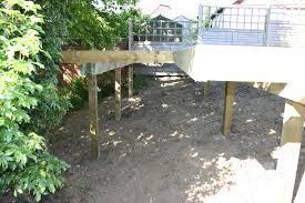 Decking Ideas For Sloping Garden Wonderful Small Sloping Garden Ideas Along With Garden Decking