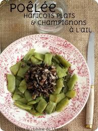 comment cuisiner les haricots plats poêlée de haricots plats et chignons à l ail