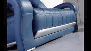 teal blue leather sofa blue leather sofa youtube