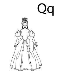 queen letter letter coloring bulk color