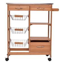 bamboo kitchen shelf island trolley cart kitchen u0026 dining carts