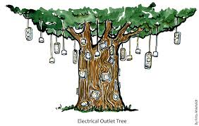 electrical outlet tree the hiking artist project by frits ahlefeldt