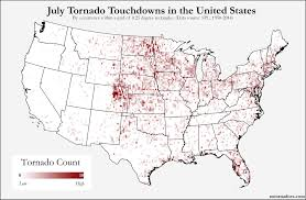 United States Storm Map by Here U0027s Where Tornadoes Typically Form In July Across The United