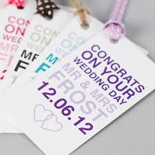 wedding tags personalised wedding day gift tag by megan