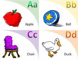 picture cards alphabet and vocabulary flash cards office templates
