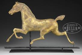 Horse Weathervane On Stand Full Body Copper Hackney Horse Weathervane Attributed To Washburn