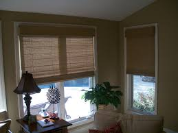 How To Cover A Window by How To Cover A Triple Window With Woven Wood Shades U2014 Carolina
