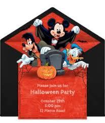 mickey mouse birthday invitations halloween any age disney