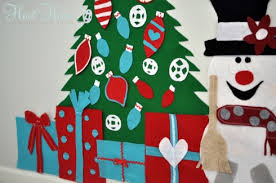 play felt christmas tree u0026frosty all things heart and home