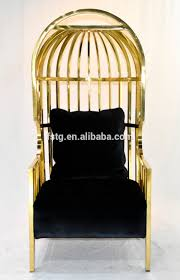 luxurious design hotel lobby furniture gold plaed stainless steel