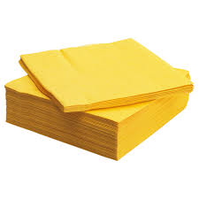 fantastisk paper napkin yellow 40x40 cm ikea