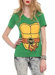 Teenage Mutant Ninja Turtles Halloween Costumes Girls Teenage Mutant Ninja Turtles Costume Neck Girls Shirt