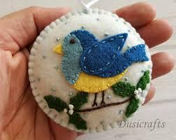 puffin ornament felt ornament felt bird
