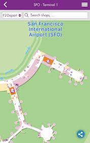 San Francisco Terminal Map by San Francisco International Airport Sfo