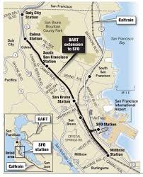 Bart Lines Map by Bart U0027s Peninsula Line Falls Short Of Hopes Competition From