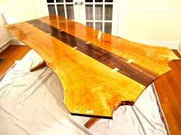 organic wood table finished with general finishes arm r seal