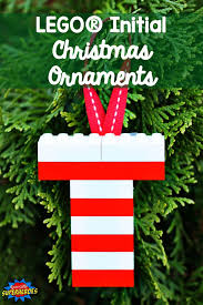 how to make lego initial ornaments