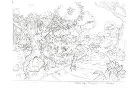 forest sketch clean layout by venomexsoldier on deviantart