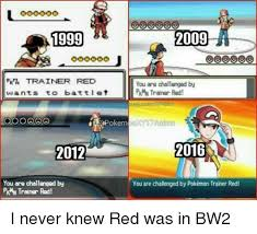 Pokemon Trainer Red Meme - 1999 pkr trainer red wants to battl et 2012 you are challenged by