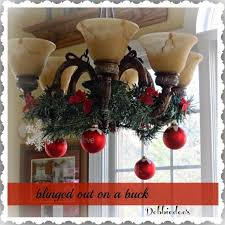 How To Decorate A Chandelier Quick Chandelier Decorating For Christmas Christmas Chandelier