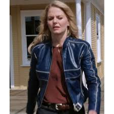 female motorcycle jackets emma swan blue leather jacket by jennifer morrison