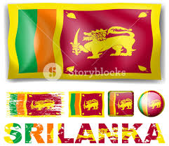 Similar Flags Sri Lanka Flag On Different Objects Illustration Royalty Free