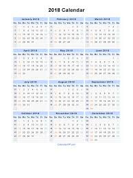 2018 calendar template pdf free calendar 2017