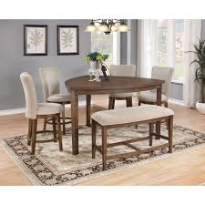 triangle counter height dining table d872 6pcs light brown wood triangle counter height dining set bench