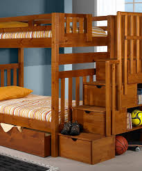 bedroom white solid wood loft bed storage stair using stariped