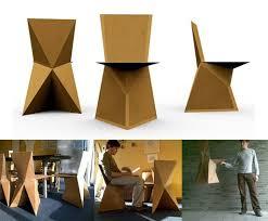 Cardboard Origami - kraftwerk diy cardboard chair diy better living through