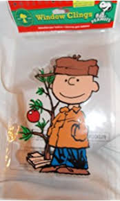 Peanuts Christmas Window Decorations by Amazon Com Product Works Peanuts Gel Window Cling Snoopy Tree