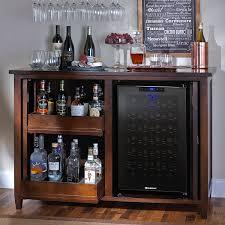 Mini Fridge Bar Cabinet Firenze Mezzo Wine And Spirits Credenza With 28 Bottle Touchscreen