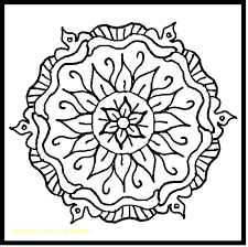 Rangoli Coloring Easy Pages Designs With Mandalas To Color Printable