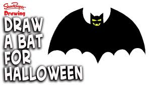 how to draw a halloween vampire bat easy step by step youtube