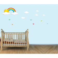 mini colorful rainbow stickers with sun for kids rooms children s bedroom wall stickers with rainbow wall stickers for kids