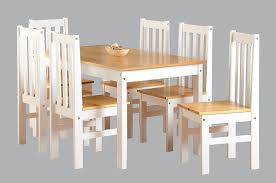 pine chairs ludlow contrasting pine and white dining set with 6 chairs