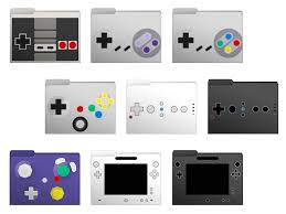 march 2018 wallpapers and folder icons whatever bright things nintendo controllers set computer folder icons by soraxcloud