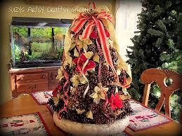 pinecone christmas tree tutorial