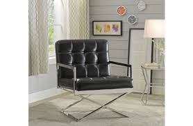 Black Leather Accent Chair Accent Chair Melrose Discount Furniture Store