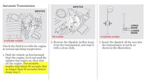 2013 service manual and atf level check procedure honda tech