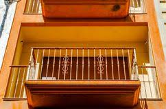 Solid Banister Detail Of Old Balcony Railing Stock Photos Image 27040653