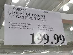 fire pit table propane costco home design ideas and inspiration