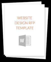 get the website design rfp template