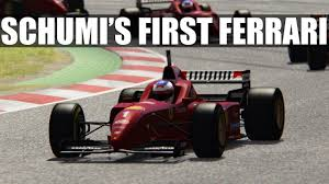 first ferrari assetto corsa driving schumacher u0027s first ferrari vr youtube