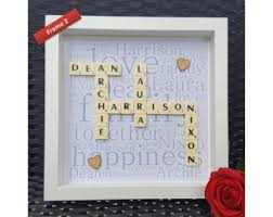 scrabble wall art etsy
