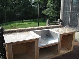 Outdoor Kitchen Sink Faucet by Rosewood Espresso Shaker Door Diy Outdoor Kitchen Ideas Sink