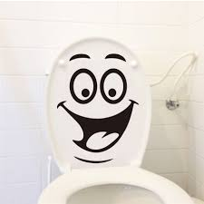 stickers home decor picture more detailed picture about dctop dctop emoticons stickers funny toilet wall sticker vinyl creative design wall decals happy face wall stickers