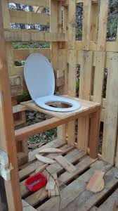 pallet outdoor toilet pallet bathroom