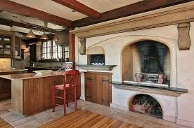 indoor pizza oven kitchen design idea include a builtin wood fire