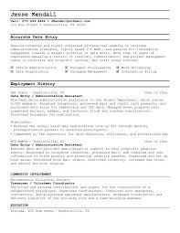 Inventory Resume Samples by Data Entry Clerk Resume Examples Resume Format 2017